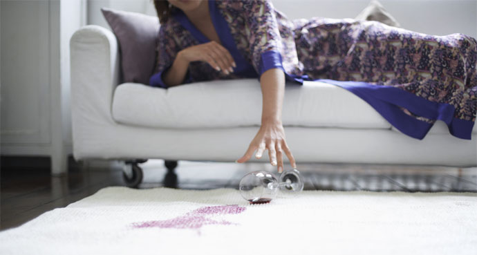 Easily Clean Away Wine Stains From Carpet