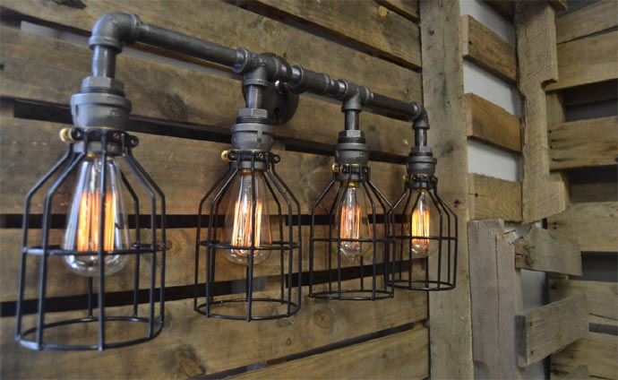 Handmade Industrial Decor
